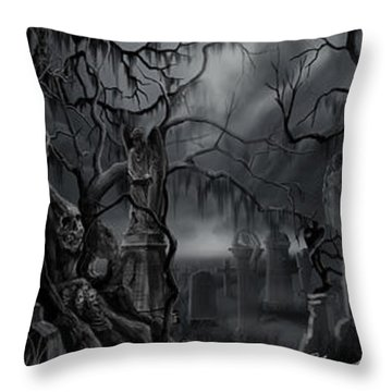 Darkness Has Crept In The Midnight Hour Throw Pillow
