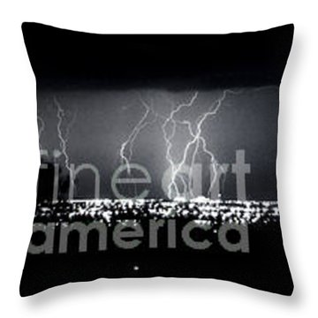 Darkness Symphony-15x72-signed Throw Pillow by J L Woody Wooden