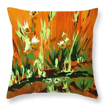 Throw Pillow featuring the painting Darlinettas by Holly Carmichael