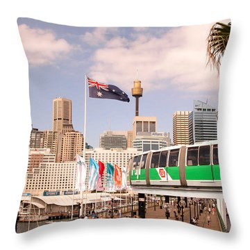 Darling Harbor Throw Pillow