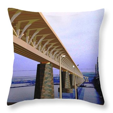 Darnitsky Bridge Throw Pillow