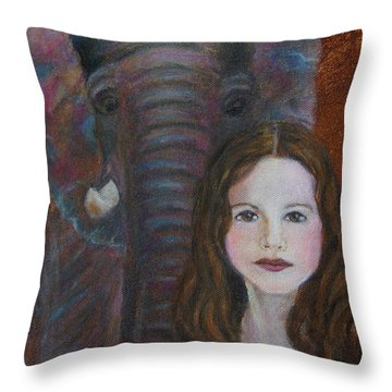 Darra  Little Angel Of                                    Feminine Wisdom And Understanding Throw Pillow by The Art With A Heart By Charlotte Phillips