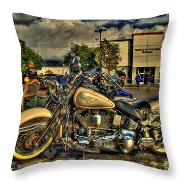 Darrell Keller Memorial Poker Run Throw Pillow