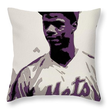 Darryl Strawberry Poster Art Throw Pillow