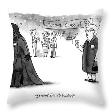 Darth? Darth Vader? Throw Pillow