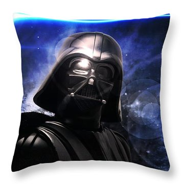 Aaron Berg Photography Throw Pillow featuring the photograph Darth Vader by Aaron Berg