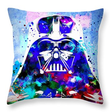 Darth Vader Star Wars Throw Pillow by Daniel Janda