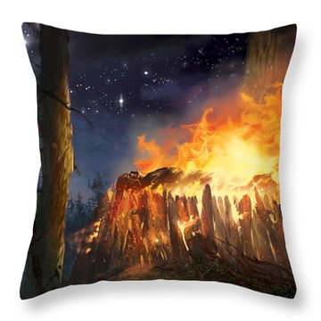 Darth Vader's Funeral Pyre Throw Pillow