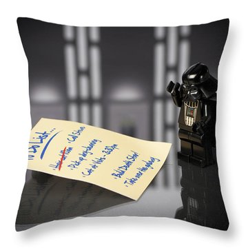 Darth's To Do List Throw Pillow