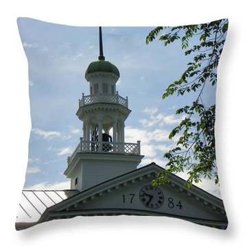 Dartmouth Hall Tower Throw Pillow