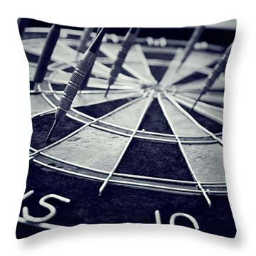 Darts Anyone Throw Pillow