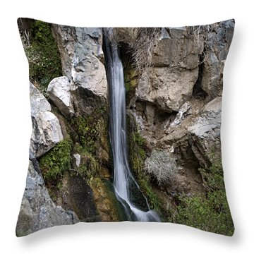Throw Pillow featuring the photograph Darwin Falls by Joe Schofield