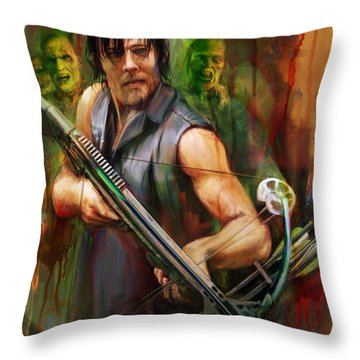 Daryl Dixon Walker Killer Throw Pillow