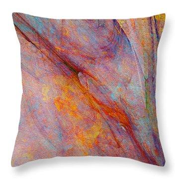 Dash Of Spring - Abstract Art Throw Pillow