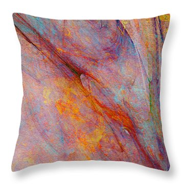 Dash Of Spring - Abstract Art Throw Pillow