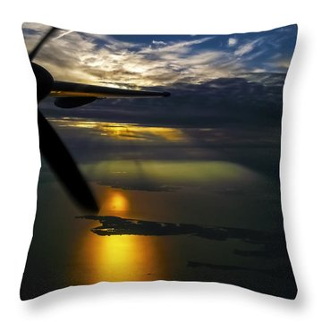 Dash Of Sunset Throw Pillow