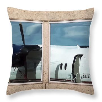 Dash Reflection Throw Pillow by Greg Reed