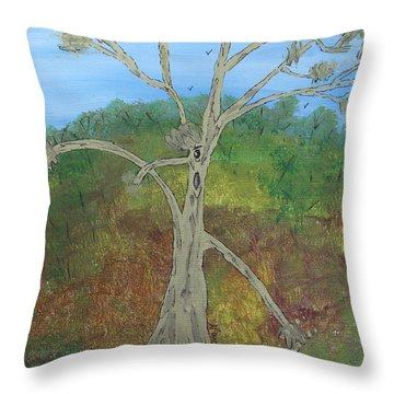 Dash The Running Tree Throw Pillow
