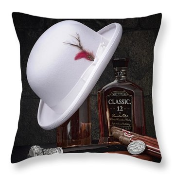 Dashing Young Man Still Life Throw Pillow