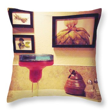 Throw Pillow featuring the photograph Date With Self by Meghan at FireBonnet Art