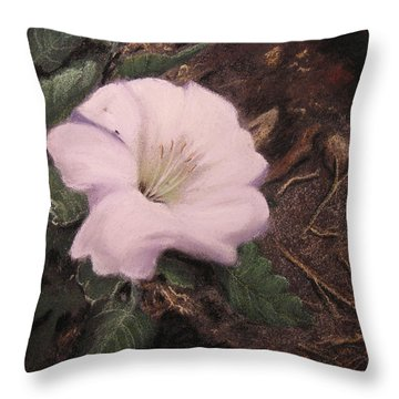 Datura Desert Lily Throw Pillow