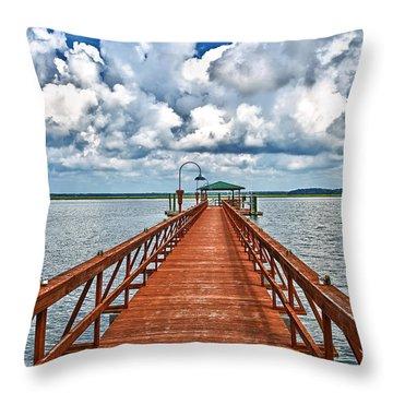 Daufuskie Pier Throw Pillow