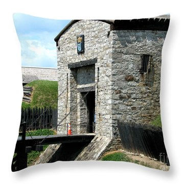 Dauphin Battery And Gate Of The Five Nations Old Fort Niagara 2 Throw Pillow by Rose Santuci-Sofranko