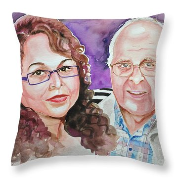 Dave And Cecile Throw Pillow