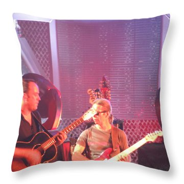 Dave And Tim Jam On The Guitar Throw Pillow by Aaron Martens