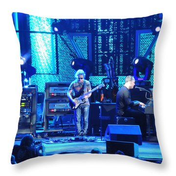 Dave And Tim Playing Out Of My Hands Throw Pillow by Aaron Martens