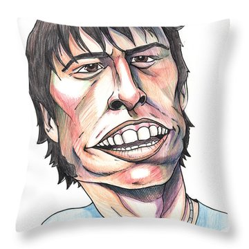 Dave Grohl Caricature Throw Pillow