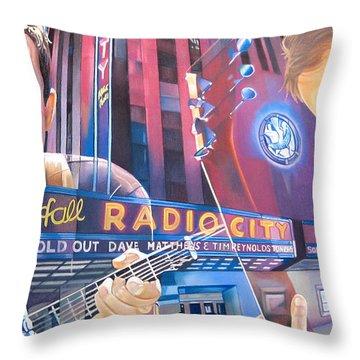 Dave Matthews And Tim Reynolds Live At Radio City Throw Pillow