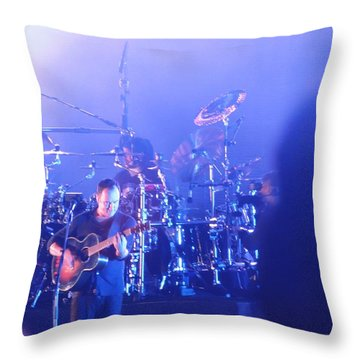 Dave Matthews Jamming In Tampa Flordia  Throw Pillow