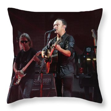 Dave Matthews Live Throw Pillow