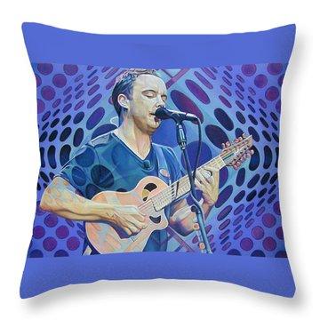 Dave Matthews-op Art Series Throw Pillow