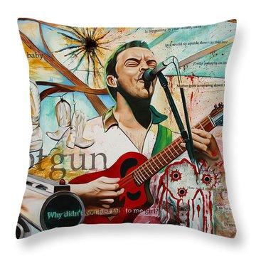 Dave Matthews Shotgun Throw Pillow by Joshua Morton