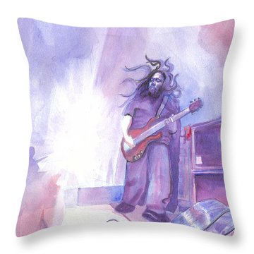 Dave Schools Throw Pillow by David Sockrider