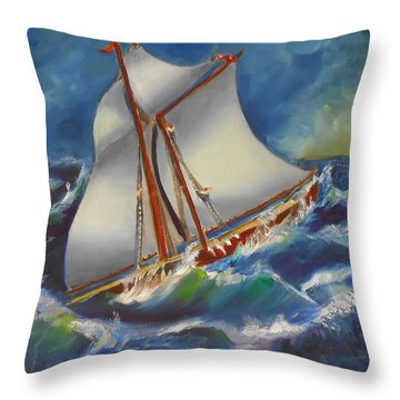 Daves' Ship Throw Pillow