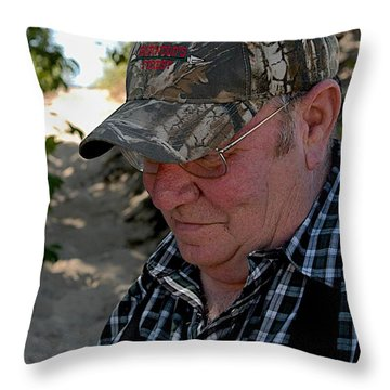 Dave's Smile Throw Pillow by Joseph Yarbrough