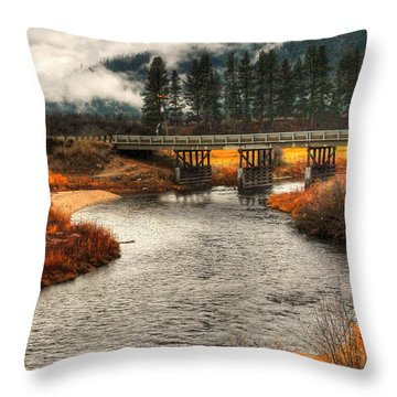 Daveys Bridge Throw Pillow