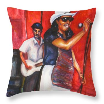 David And Buck Throw Pillow