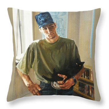 David And Pulim Throw Pillow