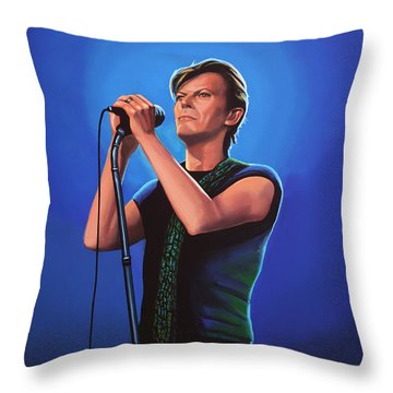 David Bowie Throw Pillows