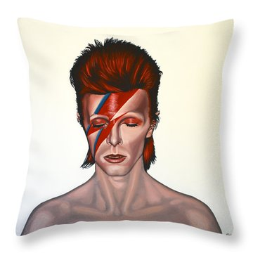 David Bowie Aladdin Sane Throw Pillow
