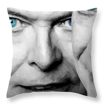 David Bowie In Clip Valentine's Day - 4 Throw Pillow