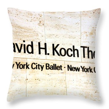 David H. Koch Theater Throw Pillow by Valentino Visentini