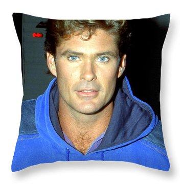 David Hasselhoff 1991 Throw Pillow