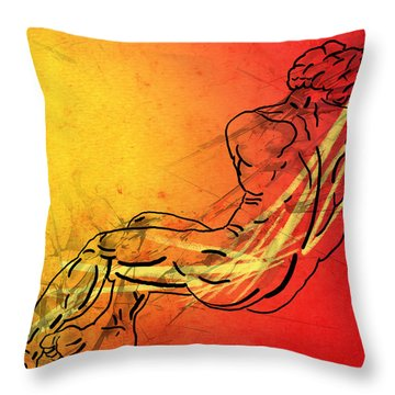 David Throw Pillow by Mark Ashkenazi