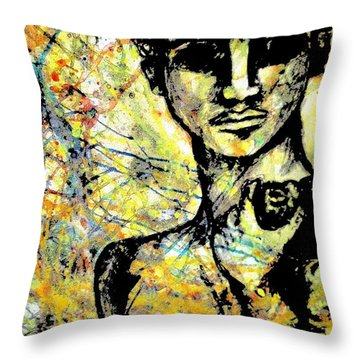 David Of Goliath Throw Pillow by Amy Sorrell