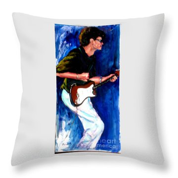 David On Guitar Throw Pillow